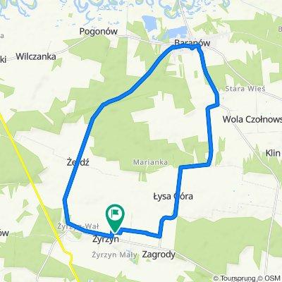 Powolna trasa w Żyrzyn