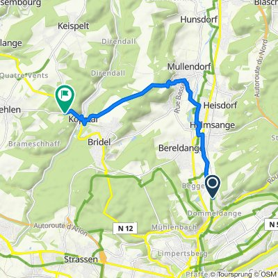 Moderate route in Kopstal
