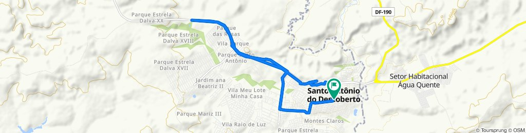 De Santo Antônio do Descoberto a Santo Antônio do Descoberto
