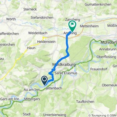 Route nach Mühldorfer Straße 46, Ampfing