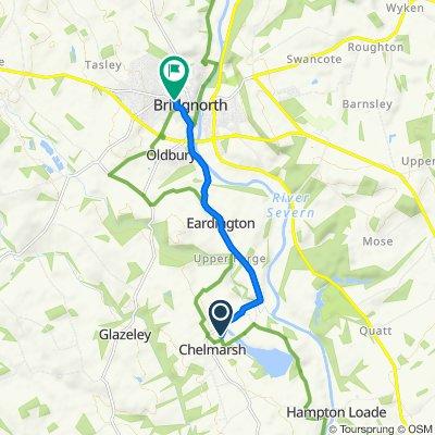 Route to 40–50 Whitburn Street, Bridgnorth