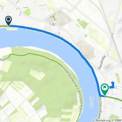 Gerade Fahrt in Köln