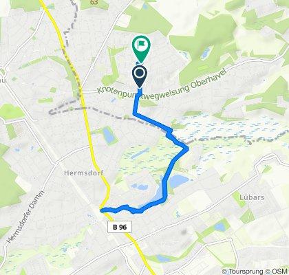 Gemütliche Route in Glienicke/Nordbahn