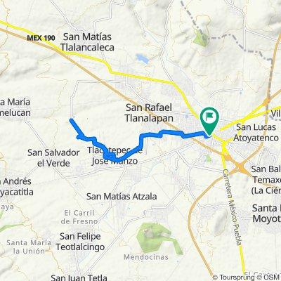 Ruta tranquila en San Martín Texmelucan de Labastida