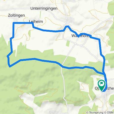 Oberliezheim 109, Bissingen nach Oberliezheim 109, Bissingen