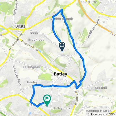 12 Upper Batley Low Lane, Batley to 11 Norfolk Avenue, Batley