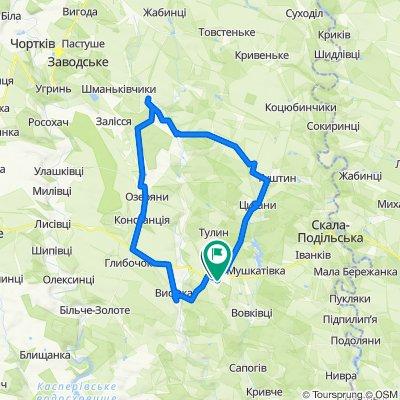 вулиця Степана Бандери 35, Борщів to вулиця Шкільна, Борщів