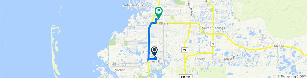 Supersonic route in New Port Richey