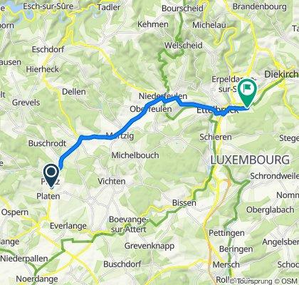 Sportliche Route in Erpeldingen