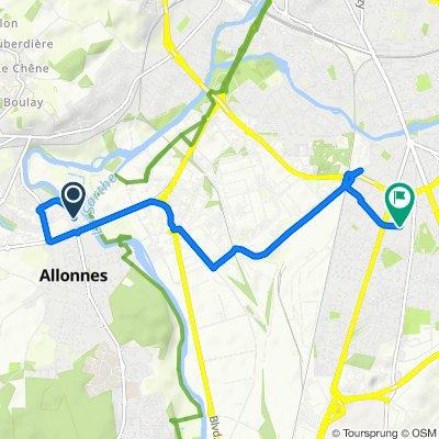 Itinéraire modéré en Le Mans