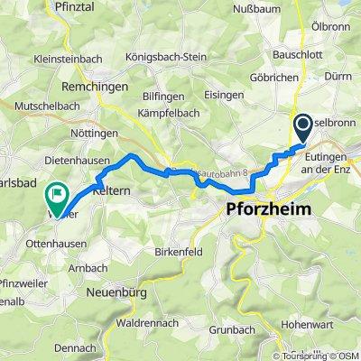 Am hohen Markstein 2, Pforzheim nach Raiffeisenstraße 18/1, Keltern