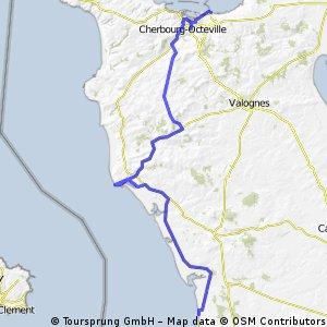 15 -  Cherbourg nach Pirou-Plage