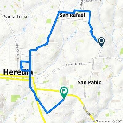 Calle La Bagaceña, San Jose to Calle Cordero, San Jose