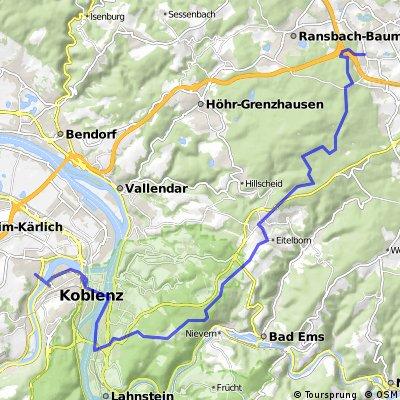 Uni Koblenz - Horchheim - Dernbach/Ww.