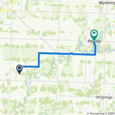 3091–3199 Waubuno Rd, St. Clair to 401–417 King St, Petrolia