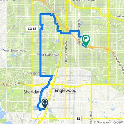 Southwest Denver - Bike Route Quest