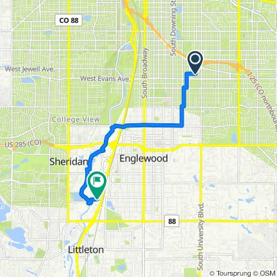 Southeast Ride to Car - Bike Map Quest