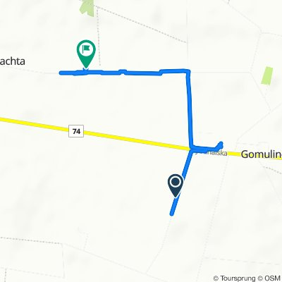 Powolna trasa w Gomulin