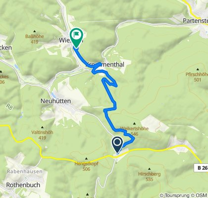 Moderate Route in Wiesthal