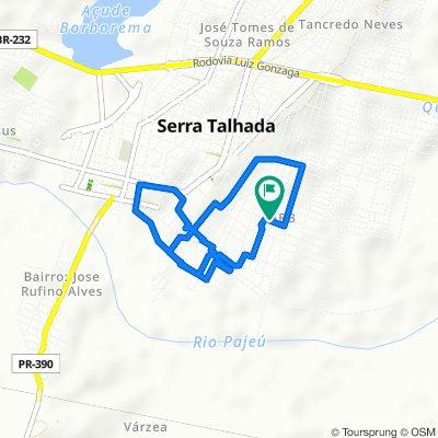 Rota repousante em Serra Talhada