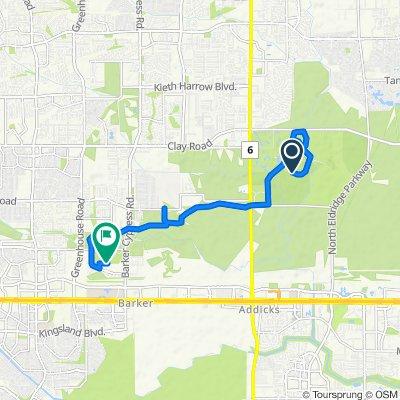 Koch Ln, Houston to 18600 S Park View Dr, Houston