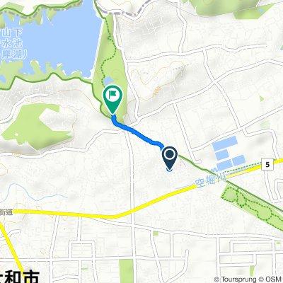 Relaxed route in Higashiyamato-Shi