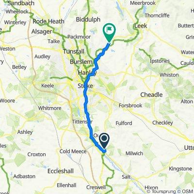 12 Springwood Drive, Stone to 233–243 Leek Road, Stoke-on-Trent