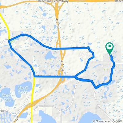 12745 Moss Park Ridge Dr, Orlando to 12750 Moss Park Ridge Dr, Orlando