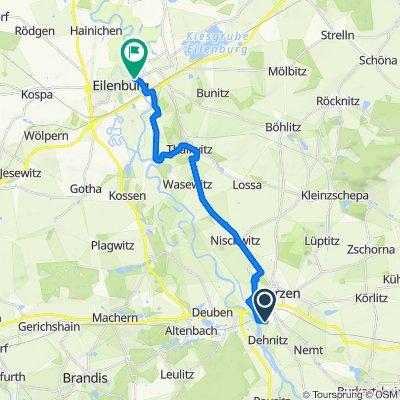 Mulderadweg - Abschnitt Wurzen bis Eilenburg (Vereinigte Mulde)