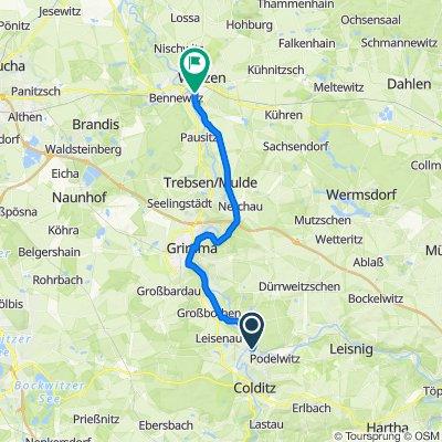 Mulderadweg - Abschnitt Sermuth bis Wurzen (Vereinigte Mulde)