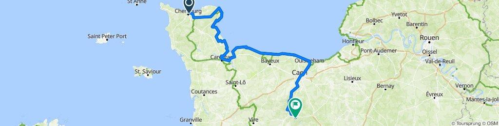 l'autre voyage à vélo (via Cherbourg)