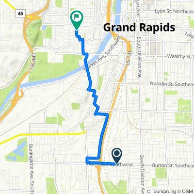 353 Burton St SW, Grand Rapids to 854 Hovey St SW, Grand Rapids