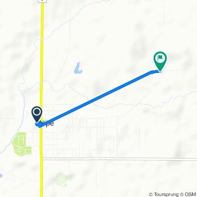 Main Street 624, Hope to County Road 735 North 16084, Hope