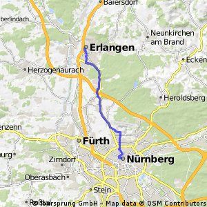 Cycling Route In Nuremberg Over Km Bikemap Your Bike Routes - Erlangen map