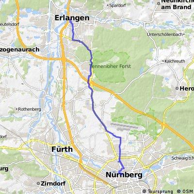 Nuernberg to Erlangen