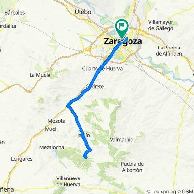 Zaragoza Out & Back Up to Virgin of Dorleta