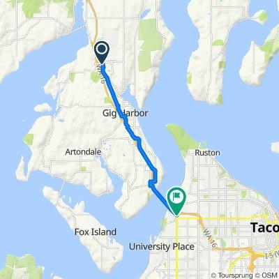 Cushman Trail, Gig Harbor to North Fairview Drive 651, Tacoma