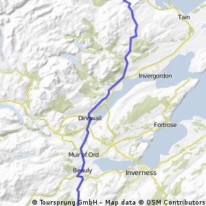 LEJOG Day 13 - Loch Ness Backpackers to Carbisdale YH