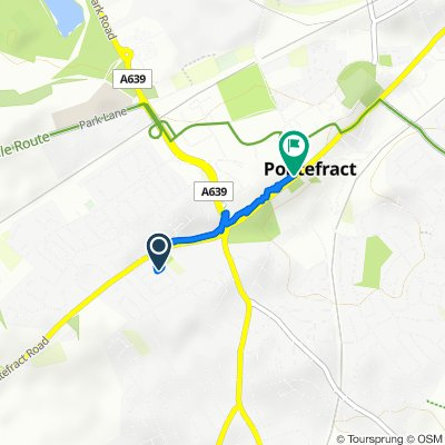 Moderate route in Pontefract