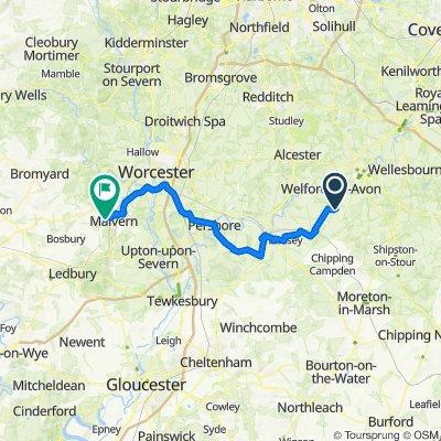 Railway Cottages, Wyre Lane, Stratford-upon-Avon to 7 Lower Road, Malvern