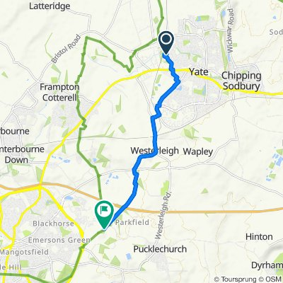 Route from 72 Parnall Crescent, Bristol