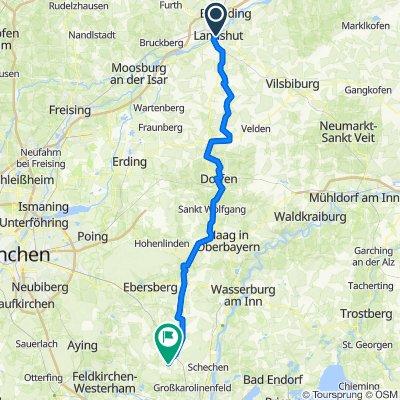Pilger-Radweg Landshut-Tuntenhausen
