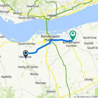 Ostler's Lane, Barton-Upon-Humber to 32 Cherry Lane, Barrow-Upon-Humber