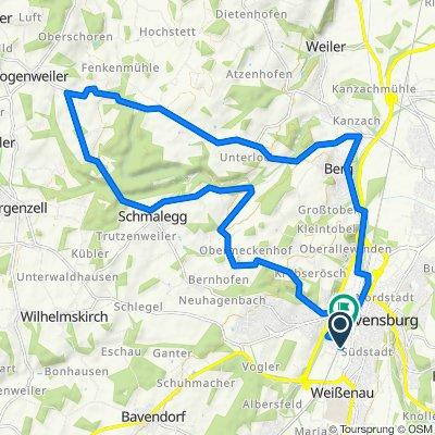 Ravensburg - Schmalegg - Berg - Runde