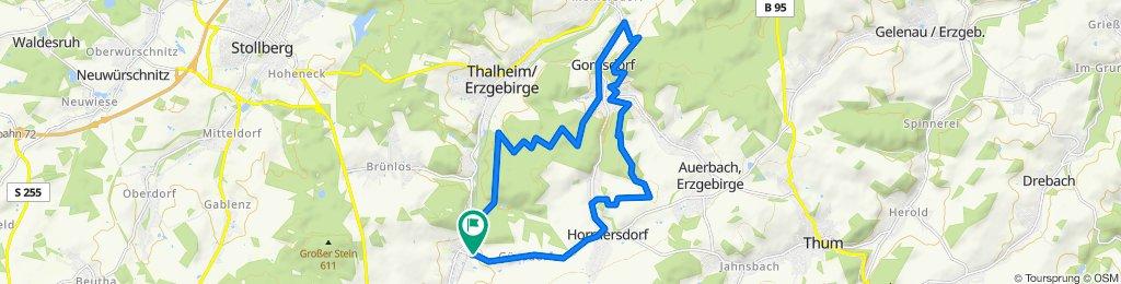 Einfache Fahrt in Zwönitz