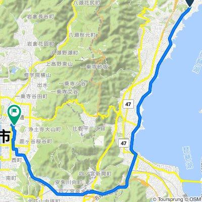 Moderate route in Sakyo-Ku, Kyoto-Shi
