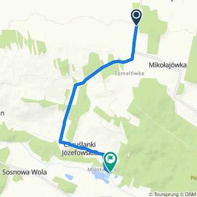 Route from Boby-Kolonia, Urzędów