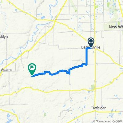 89 S Baldwin St, Bargersville to 2564 Abraham Rd, Martinsville