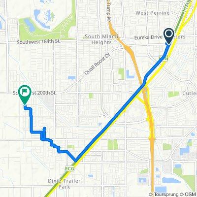 Restful route in Miami
