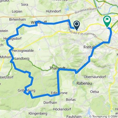 Pennrich-Tharandter Wald nach Dresden